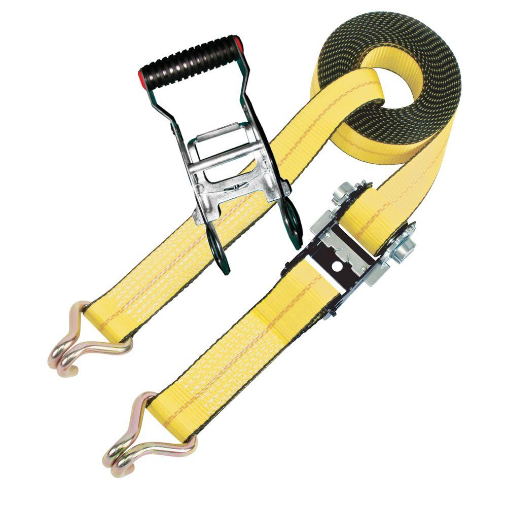 EVEREST 2 in. x 27 ft. Anti-Theft Ratchet Tie-Down Strap