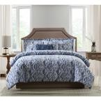 Allyson Blue Ikat 5-Piece Full/Queen Comforter Set