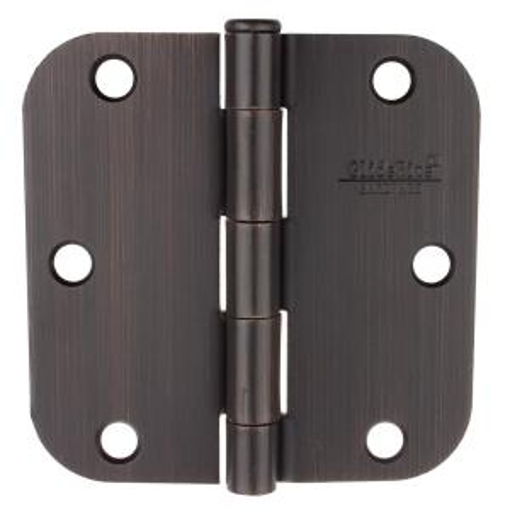 GlideRite 3-1/2 inch Oil Rubbed Bronze Steel Door Hinge 5/8 inch Corner Radius... by GlideRite