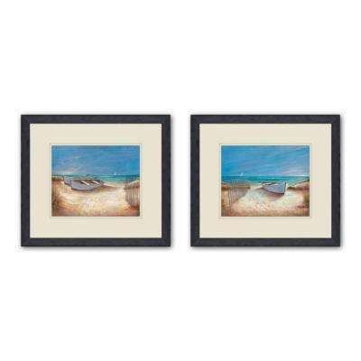 "15 in. x 17 in. ""Ocean Breeze"" Double-Matted Framed Wall Art (Set of 2)"