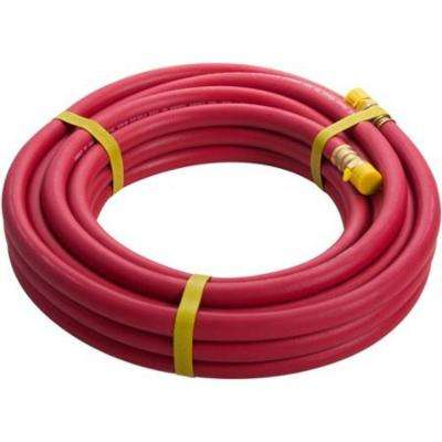 35 ft. x 3/8 in. Rubber Air Hose, 3/8 in. NPT fittings