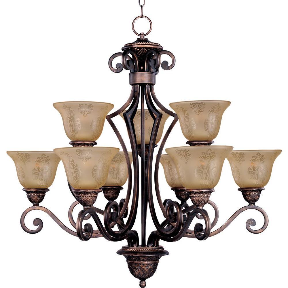 Maxim Lighting Symphony 9-Light Oil-Rubbed Bronze Chandelier