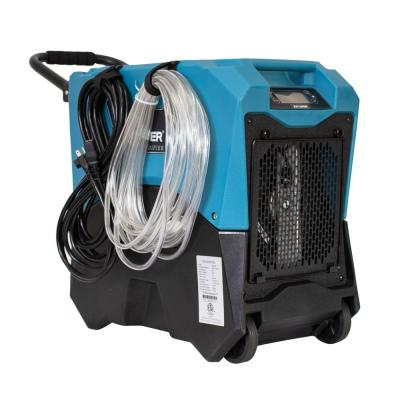 145-Pint LGR Commercial Dehumidifier with Auto Purge Pump, Handle and Wheels for Water Damage Restoration and Mold