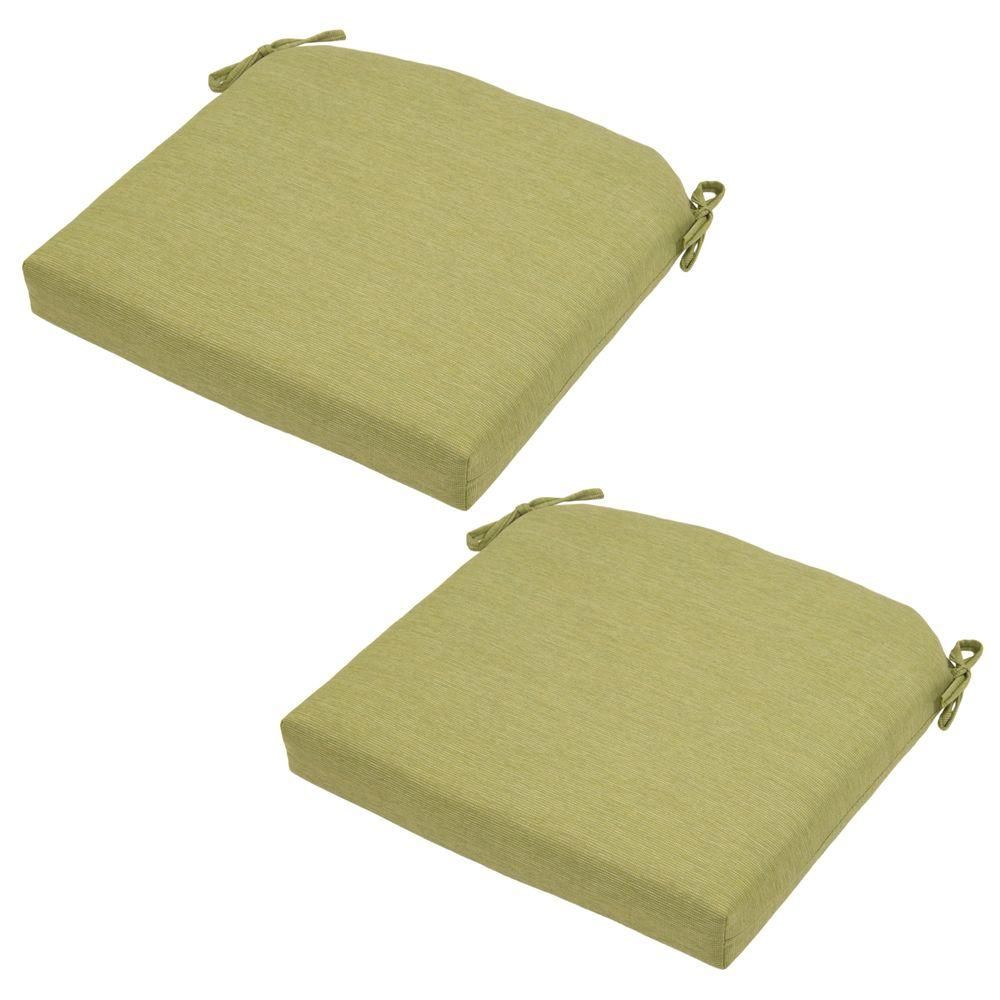 Luxe Solid Deluxe Outdoor Seat Cushion (2-Pack)