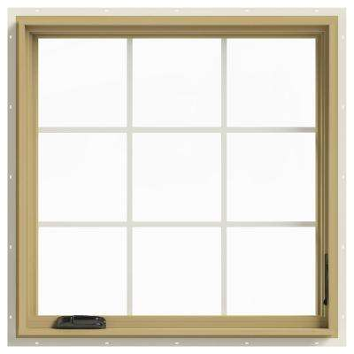 36 in. x 36 in. W-2500 Right Hand Casement Aluminum Clad Wood Window
