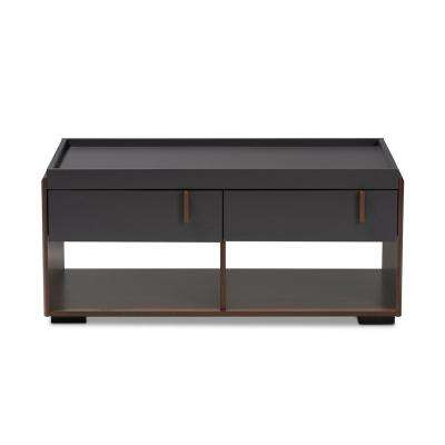 Rikke Gray and Walnut Coffee Table