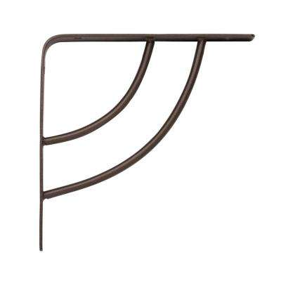 Milano 6 in. x .75 in. Bronze 25 lb. Decorative Shelf Bracket