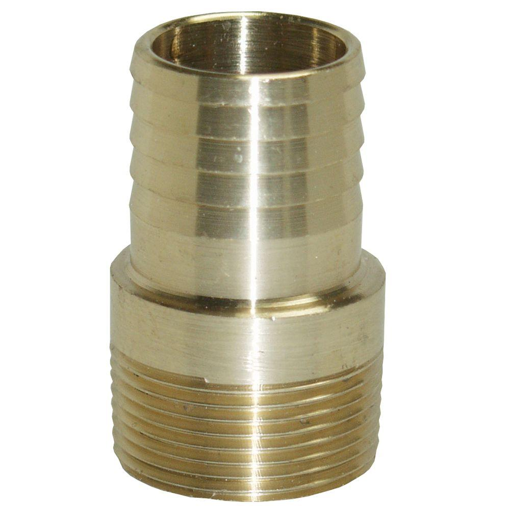 Water Source 1-1/2 in. Brass Male Insert Adapter