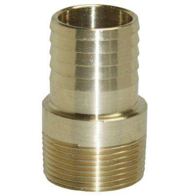 1-1/2 in. Brass Male Insert Adapter