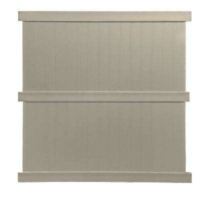 Augusta 8 ft. H x 8 ft. W Khaki Vinyl Privacy Fence Panel Kit