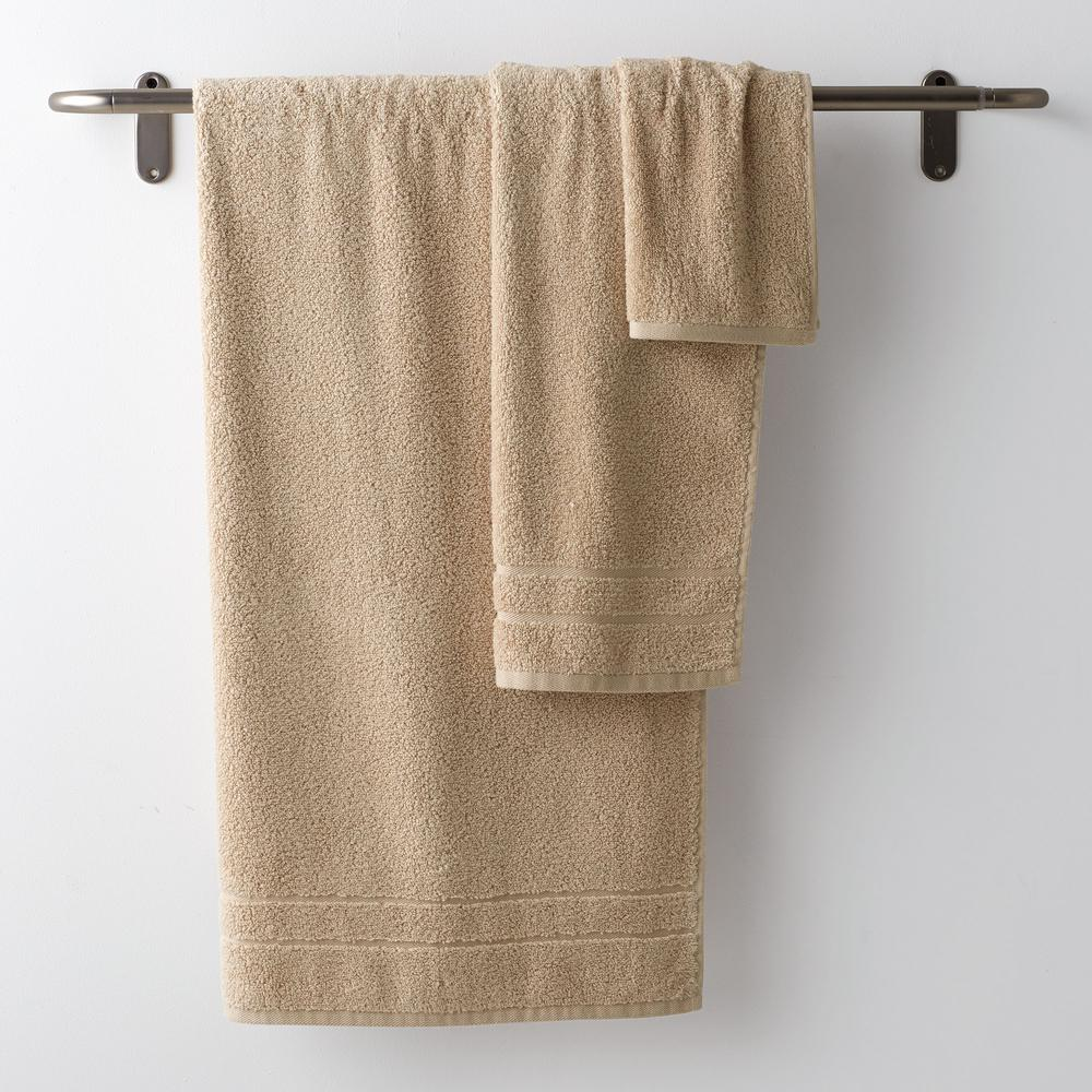 3-Piece Cotton Bath Towel Set in Natural