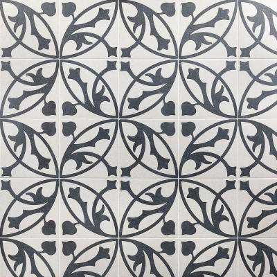 Branwell Er Blanco 9 in. x 9 in. x 11mm Matte Porcelain Floor and Wall Tile (10.76 sq. ft. / box)