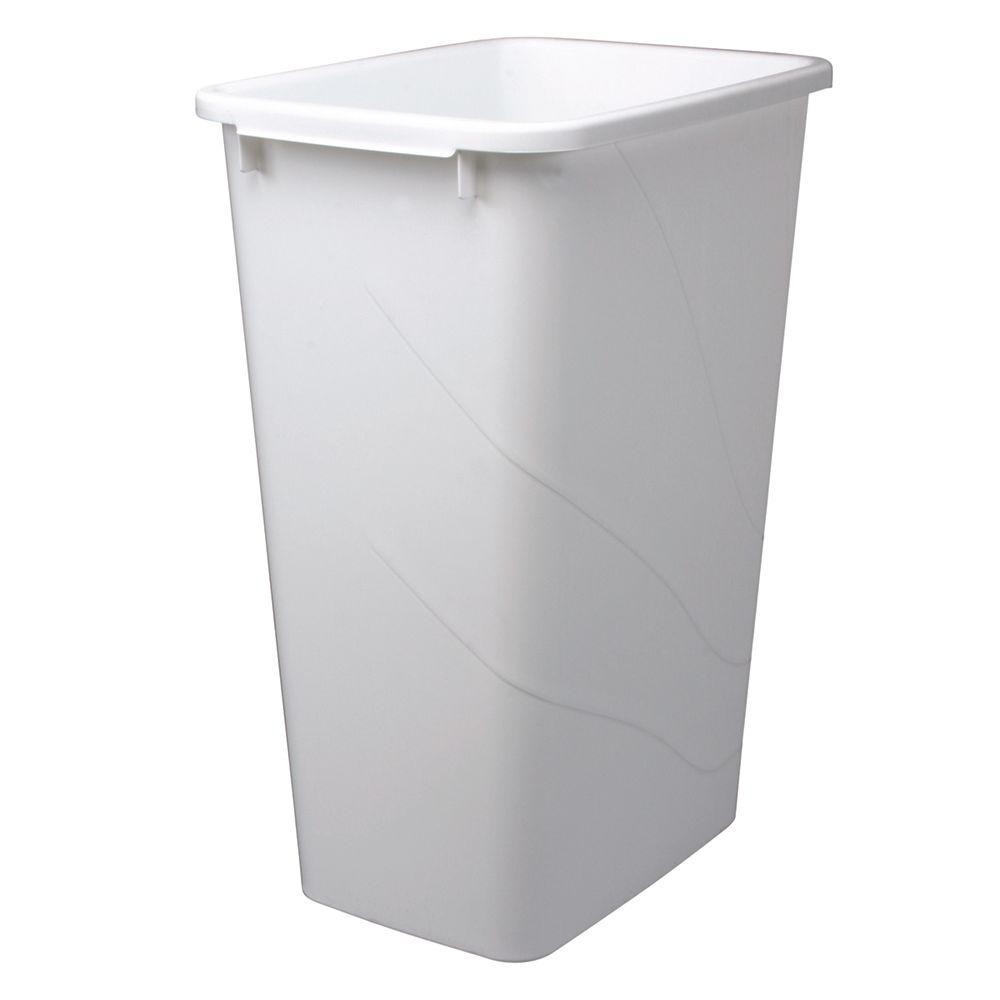 Knape & Vogt 21.63 in. x 15.38 in. x 11.13 in. In Cabinet Replacement Pull  Out Trash Can