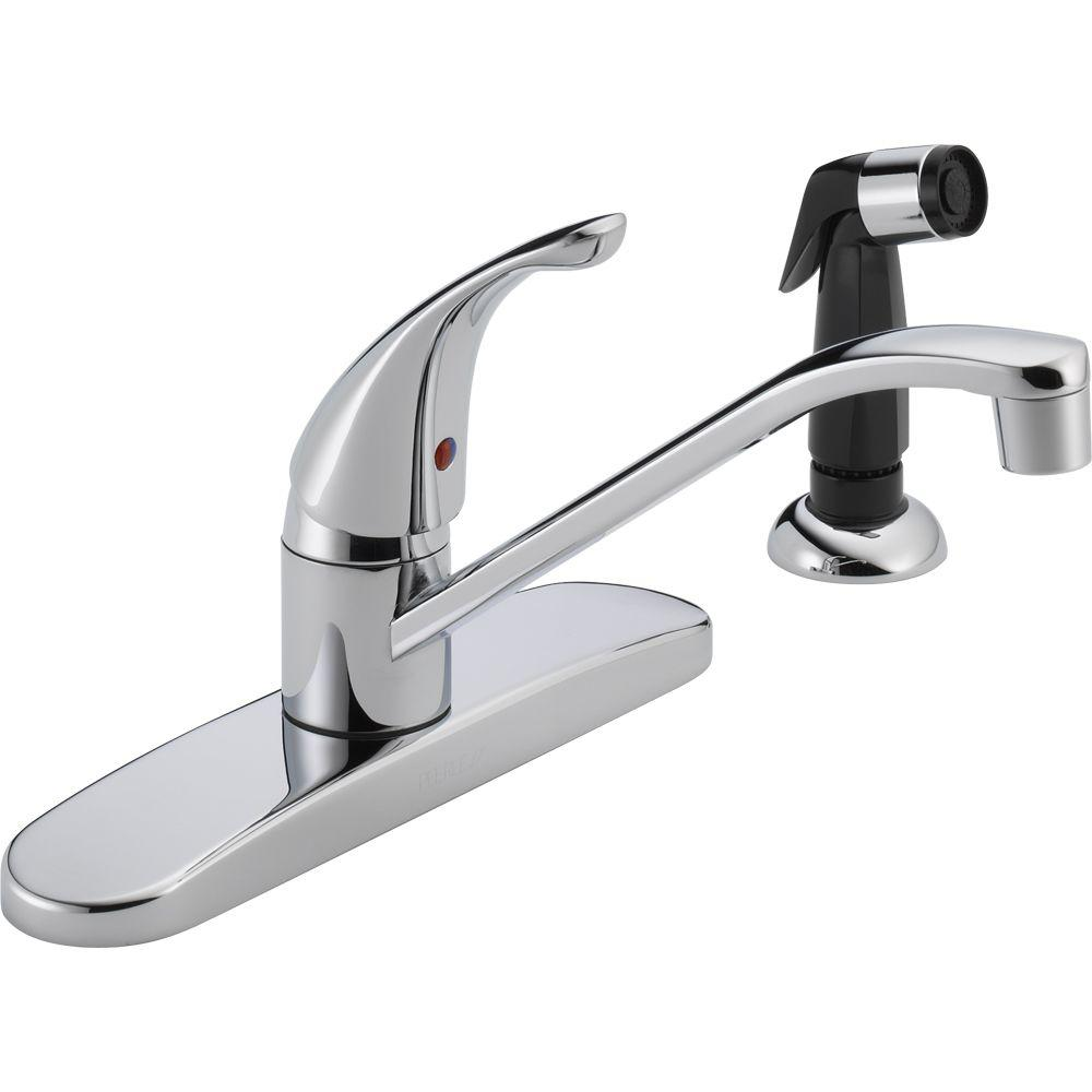 Peerless Core Single-Handle Standard Kitchen Faucet with Side ...