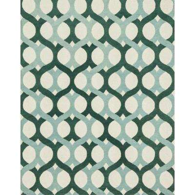 Weston Lifestyle Collection Blue/Green 7 ft. 9 in. x 9 ft. 9 in. Area Rug
