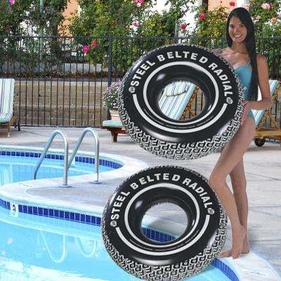 38 in. Radial Tire Tube Pool Float (2-Pack)