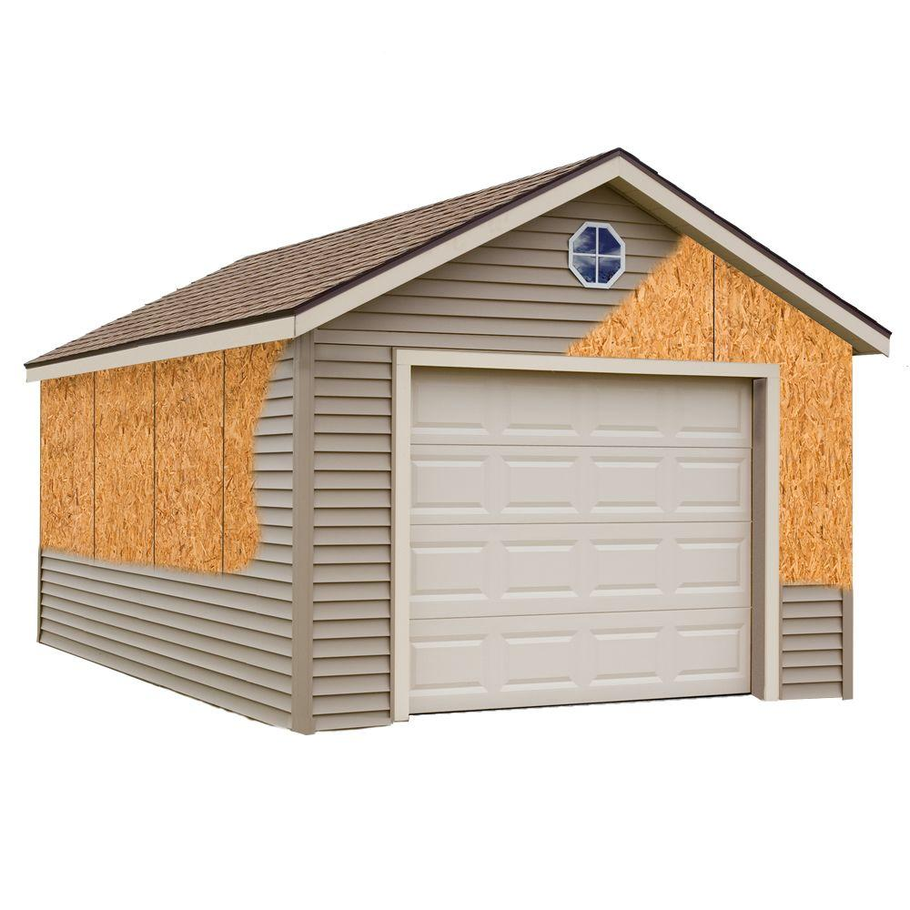 Best barns greenbriar 12 ft x 20 ft prepped for vinyl for Home hardware garage packages cost
