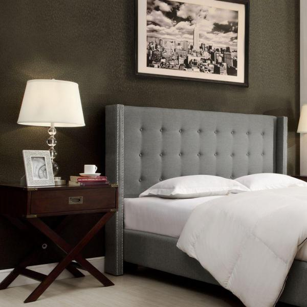 Franklin Park Grey Queen Headboard