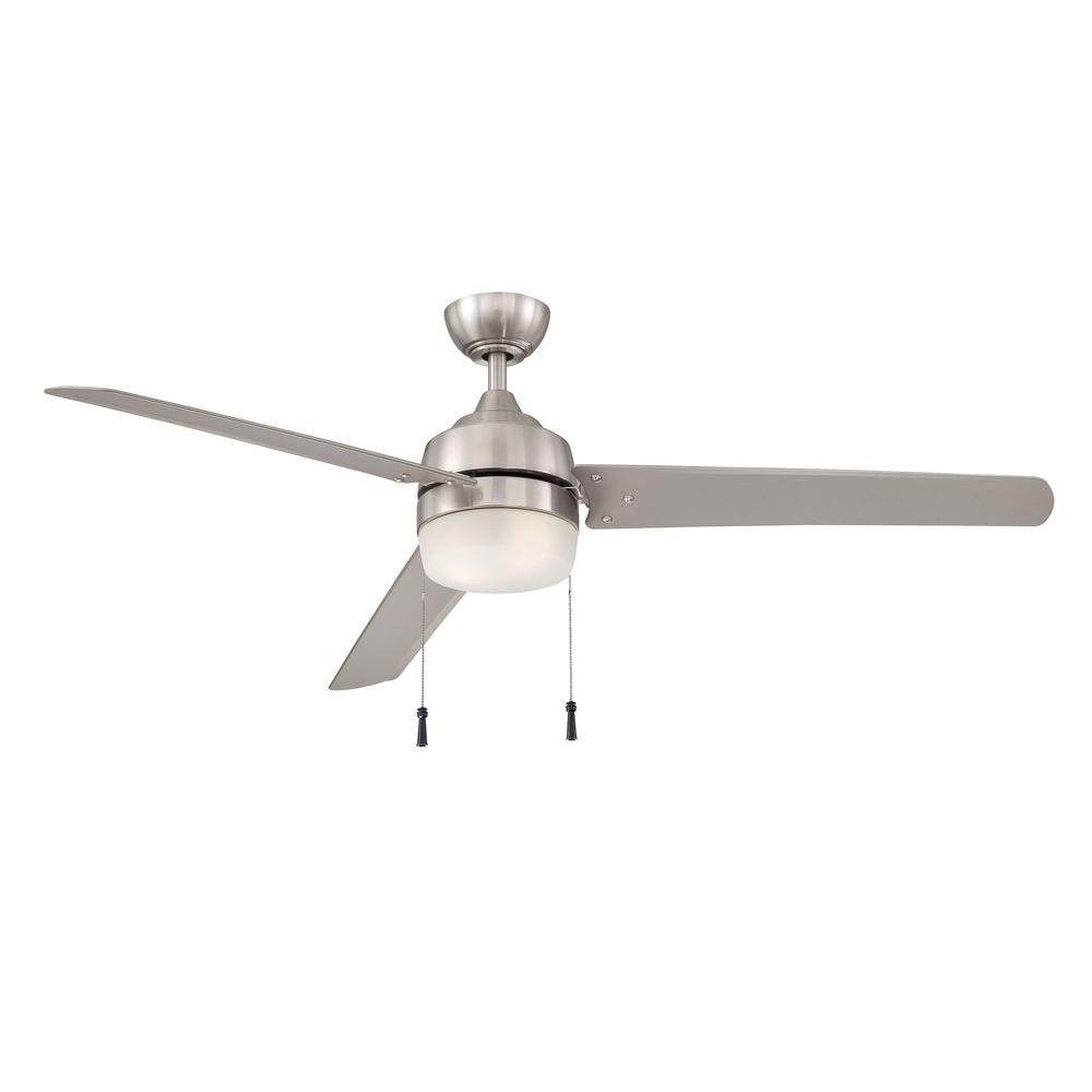 carrington 60 in brushed nickel ceiling fan with light kit