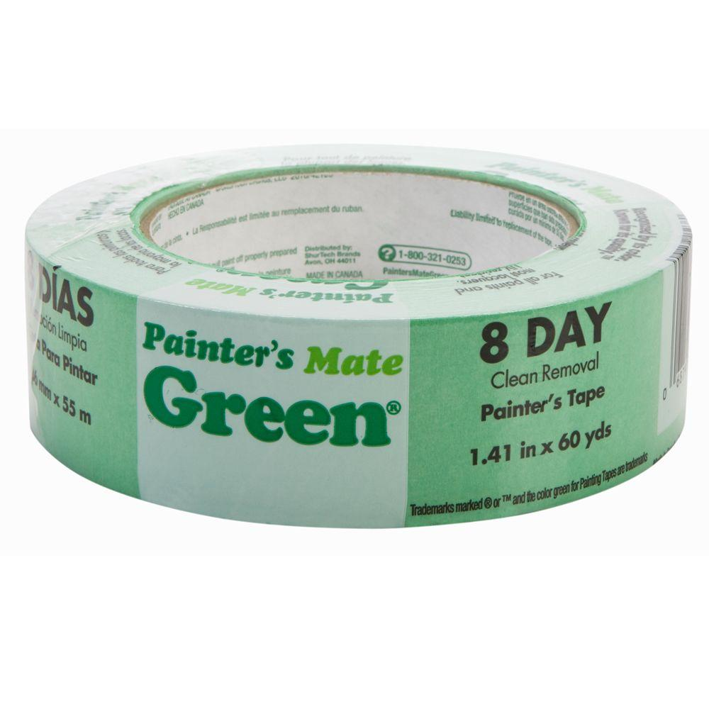 Painter's Mate Green 1.41 in. x 60 yds. Masking Tape, (16-Pack)