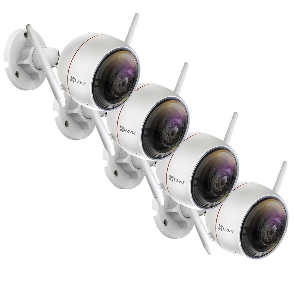 ezGuard C3W 1080p Indoor/Outdoor Bullet Wi-Fi Full HD Security Camera (4-Pack)