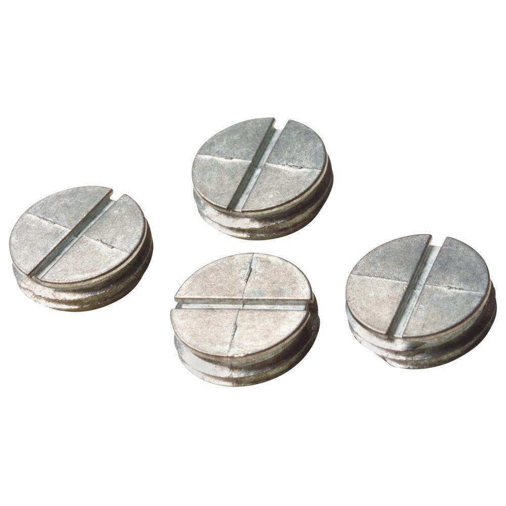 1 in. Closure Plug - Silver (Case of 30)