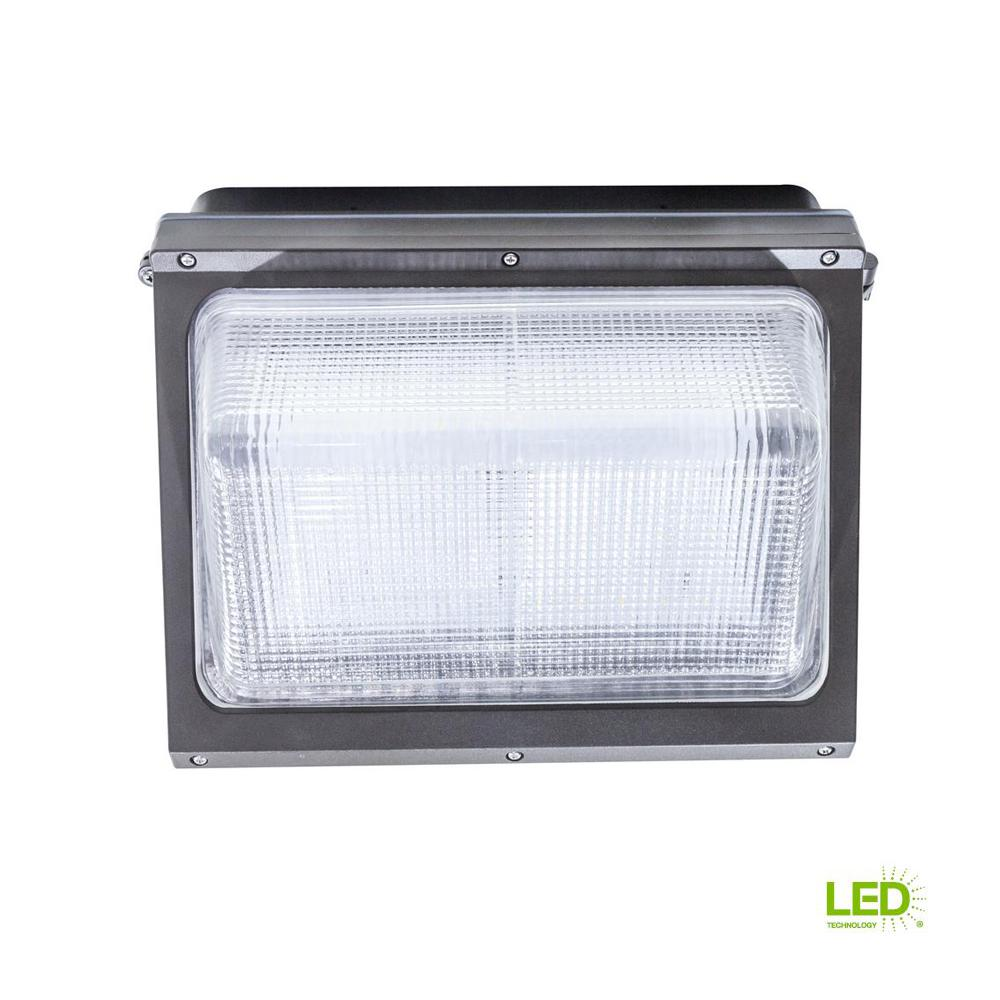 Led Wall Pack 1000bulbs: Lithonia Lighting Bronze Outdoor Integrated LED Wall-Mount