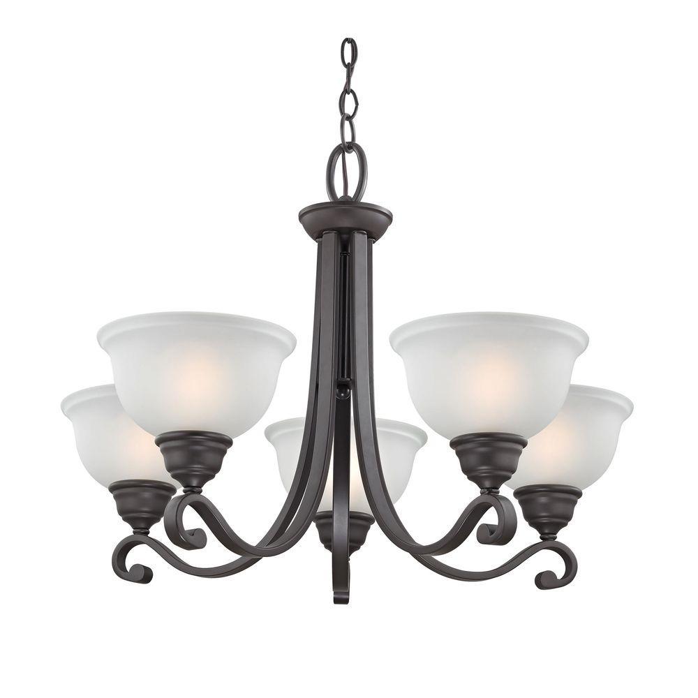 Industrial Lighting Hamilton: Titan Lighting Hamilton 5-Light Oil-Rubbed Bronze