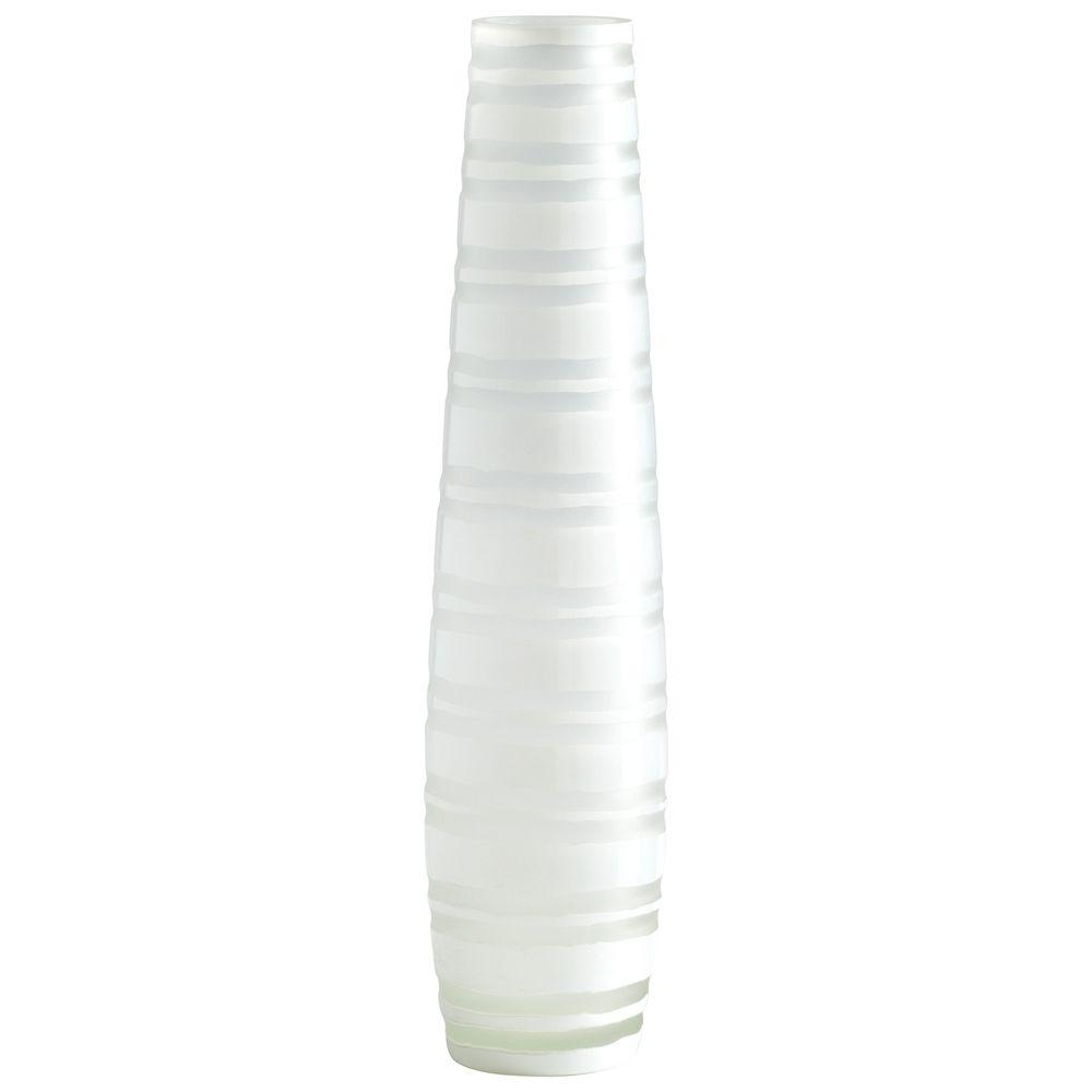 Filament Design Prospect 19.75 in. x 7.75 in. Acid White And Smoke Vase