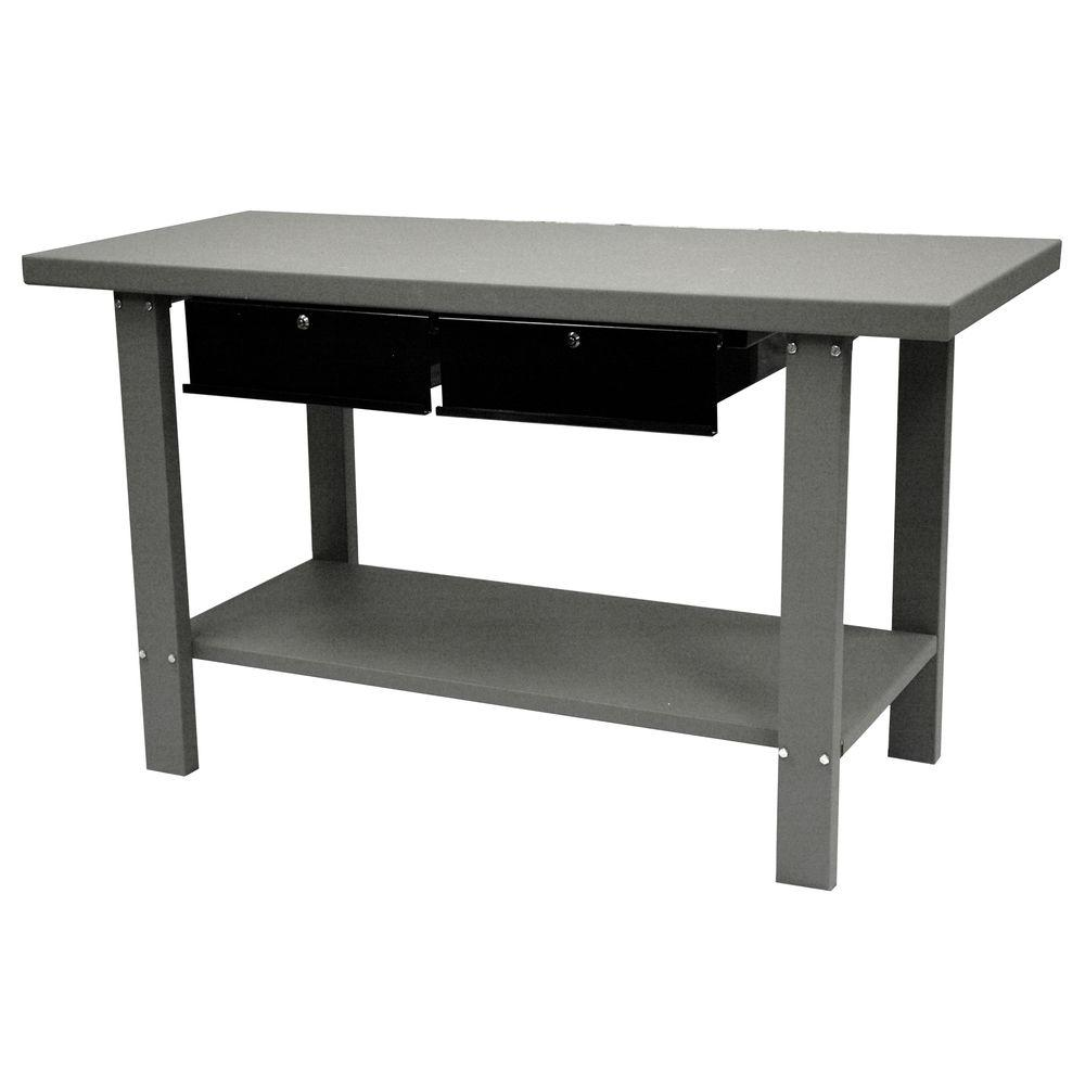 Industrial Workbench With Storage