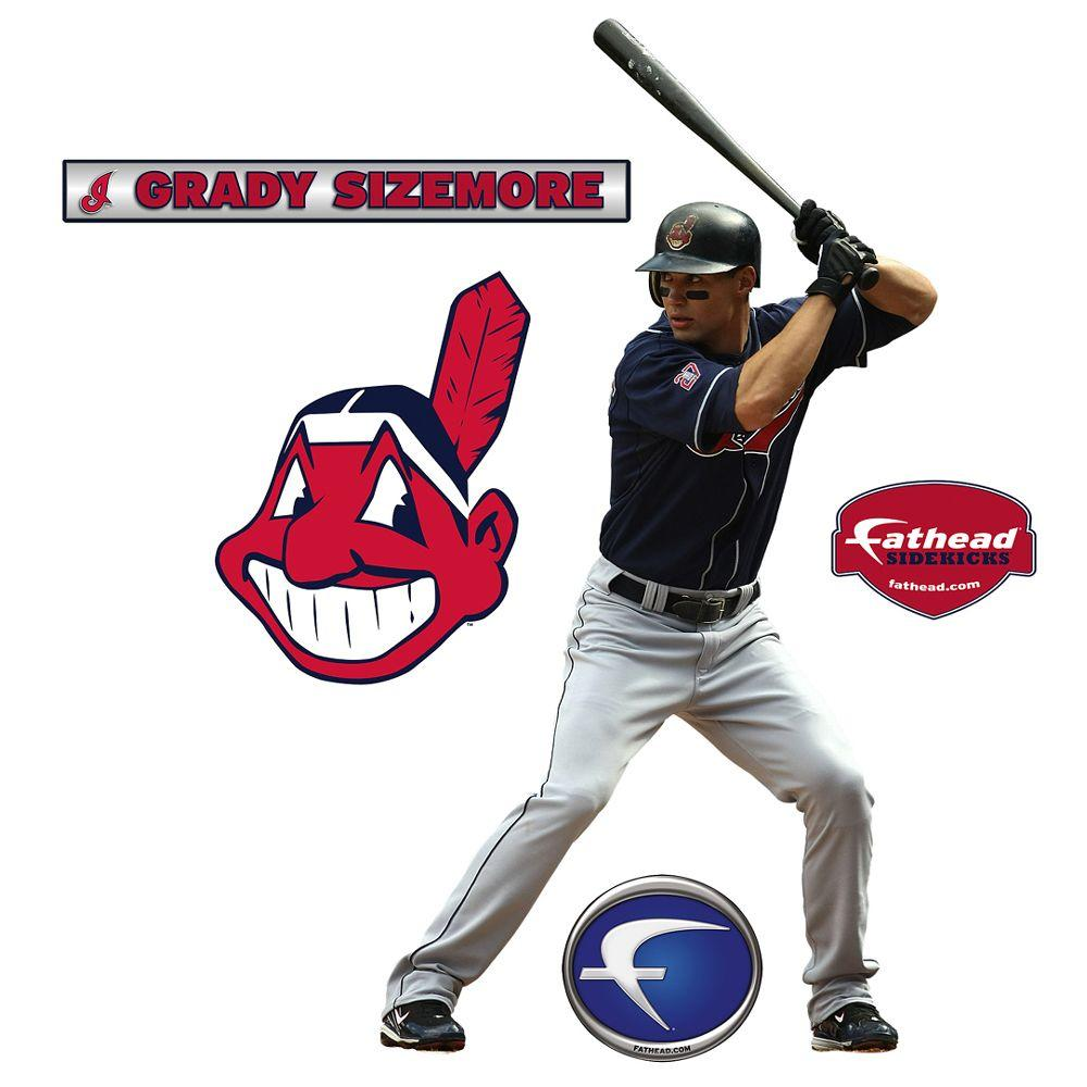 Fathead 20 in. x 38 in. Grady Sizemore Cleveland Indians Wall Decal