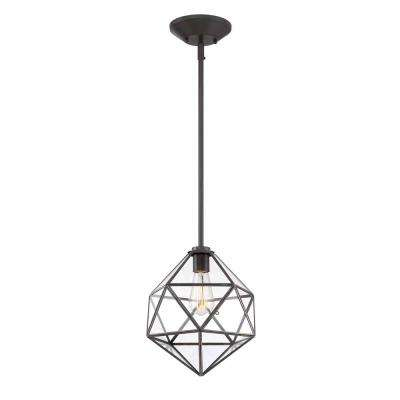 1-Light English Bronze Hanging Pendant