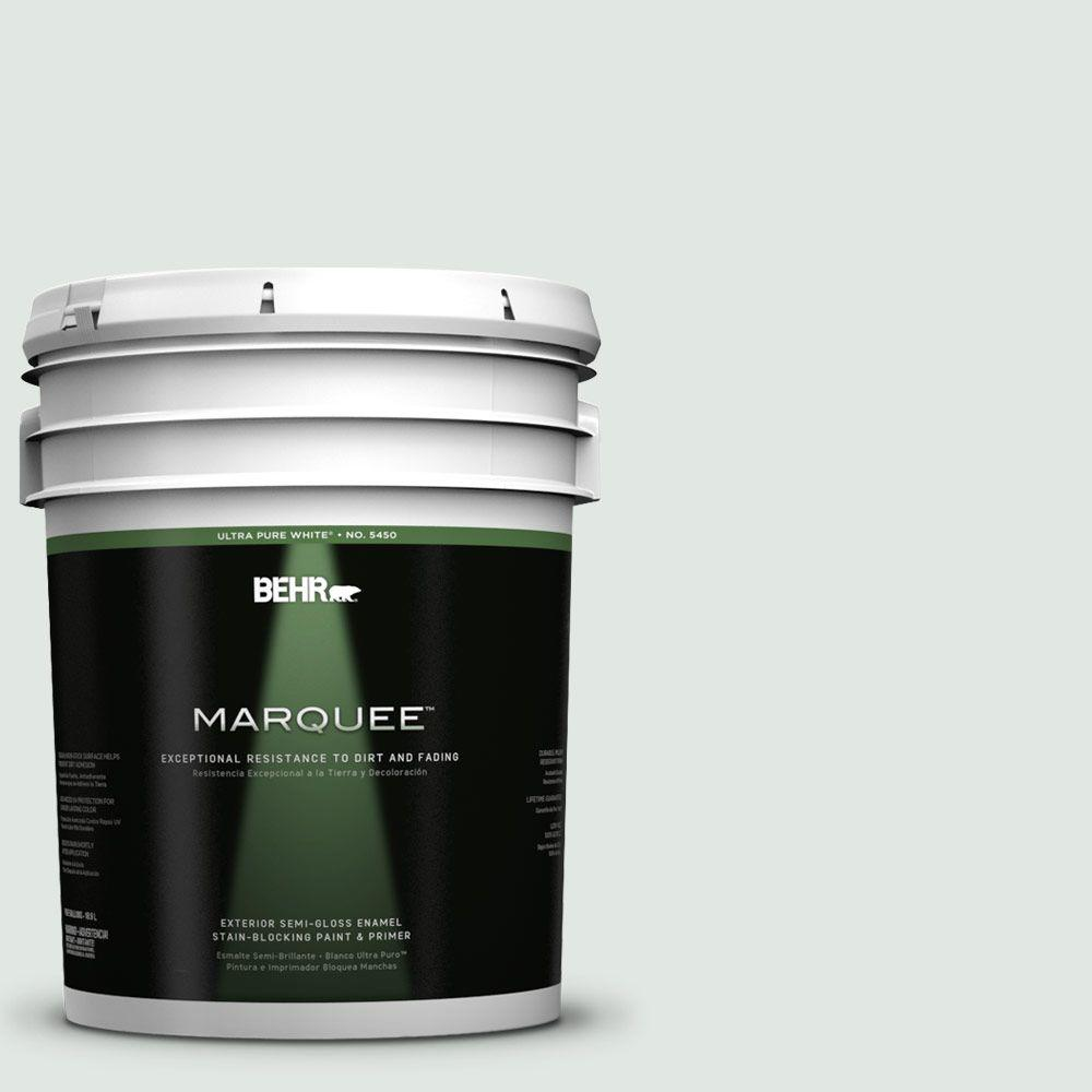 BEHR MARQUEE 5-gal. #PPL-56 Winter Veil Semi-Gloss Enamel Exterior Paint