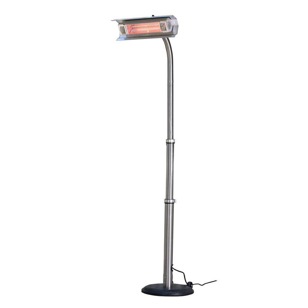 Fire Sense 1 500 Watt Stainless Steel Infrared Electric Patio Heater 02117 The Home Depot
