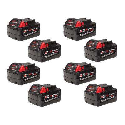 M18 18-Volt Lithium-Ion XC Extended Capacity Battery Pack 3.0Ah (8-Pack)