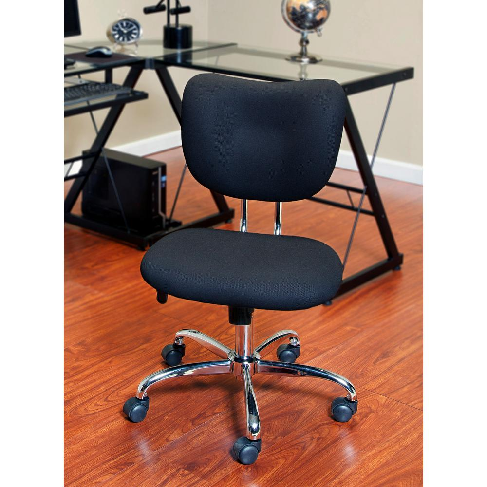 Mid-Back Black Mesh Task Chair, Chrome Base