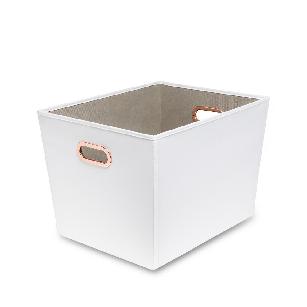 60 Qt. White with Copper Handles Canvas Tote  sc 1 st  Home Depot & Fabric - Storage Bins u0026 Totes - Storage u0026 Organization - The Home Depot