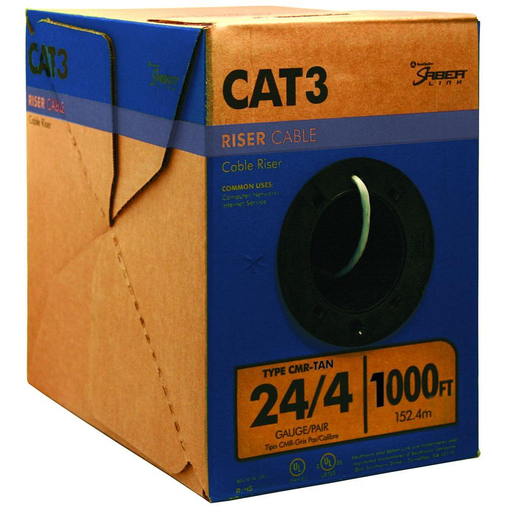 Southwire 1000 ft. 24-Gauge 4-Pair CAT3 Cable - Tan