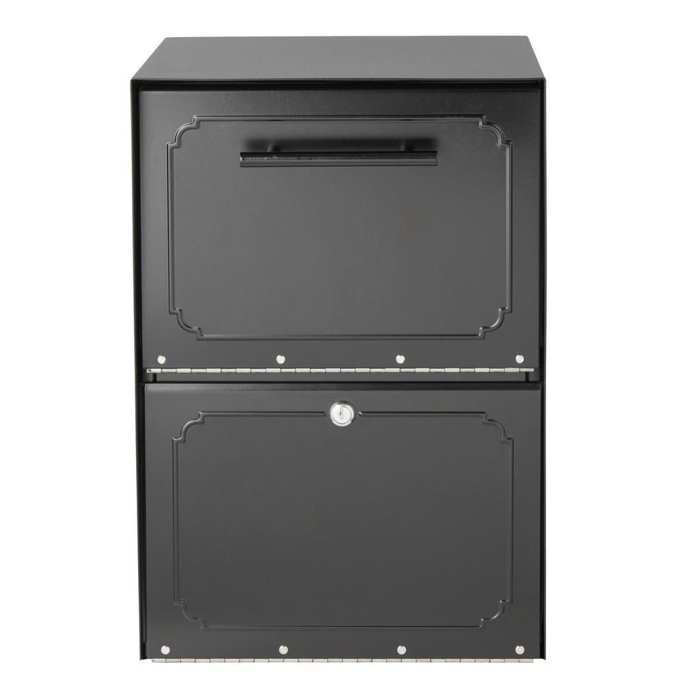 Oasis Black Post-Mount or Column-Mount Locking Drop Box