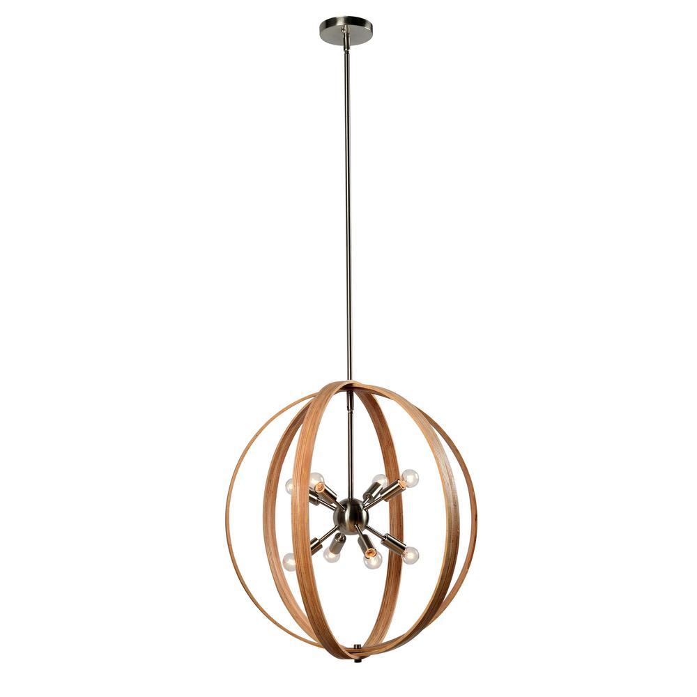 Needlework 8-Light Bronze Pendant