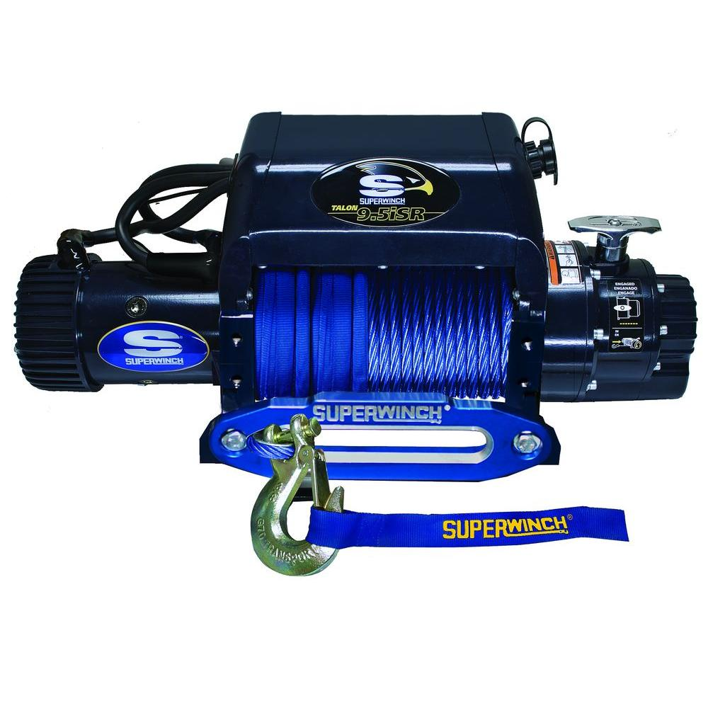 Talon 9.5iSR 12-Volt DC Off-Road Winch with Hawse Fairlead and Synthetic