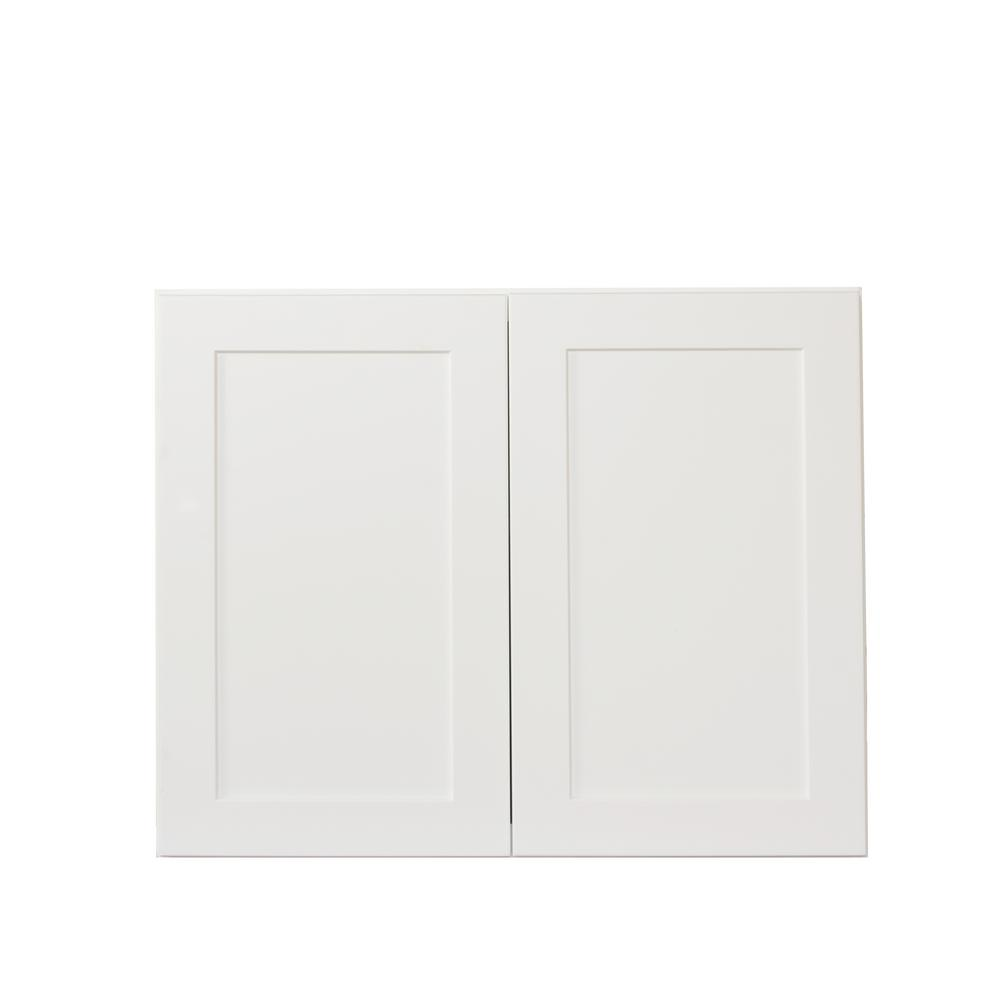 white shaker kitchen cabinet doors bremen ready to assemble 30x24x12 in wall cabinets with 2 29130