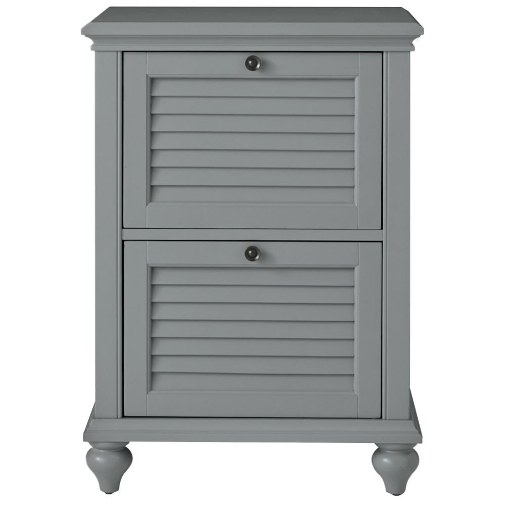 Hamilton 2 Drawer Grey File Cabinet