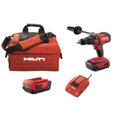 22-Volt Lithium-Ion 1/2 in. Cordless Brushless Hammer Drill Driver SF 6H Kit with 2 Batteries, Charger and Bag