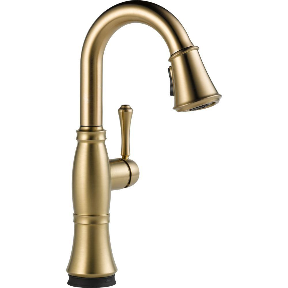 Cassidy Touch Single-Handle Pull-Down Sprayer Bar Faucet in Champagne Bronze