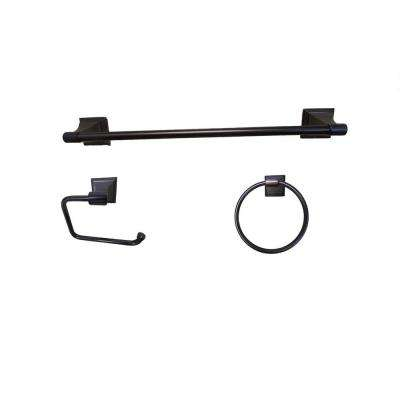 Leonard Collection 3-Piece Bathroom Accessory Kit in Oil-Rubbed Bronze