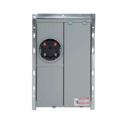 100 Amp 12-Spaces 24-Circuits Flush Mount Title 24 Compliant BR Type Meter Breaker Panel