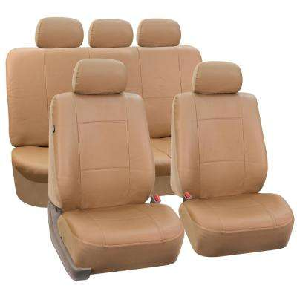 Premium PU Leather 15 in. x 12 in. x 6 in. Full Set Seat Covers