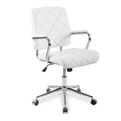 Draper White Office Chair