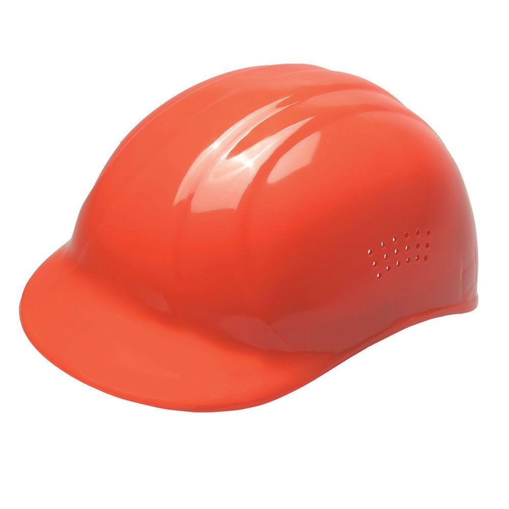 ERB 4-Point Plastic Suspension Pin-Lock 67 Bump Cap in Hi-Viz Orange